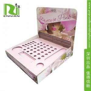 China Mascara POP Cardboard Displays Counter Lip Gloss Display Rack on sale