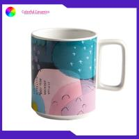 Buy cheap Stoneware Printed Promotional Ceramic Travel Mug Tea Cups 420ML EEC Approval from wholesalers