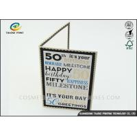Buy cheap Kraft Paper Personalised Christmas Cards Pantone Color Environmental Protection from wholesalers