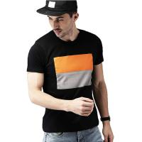 Buy cheap Urban Stylish Mens T Shirts 100% Cotton Short Sleeves Fabric Weight 120 Grams from wholesalers