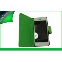Buy cheap Green Shinny Apple Iphone Leather Cases With Credit Card Slot For iPhone 5 from wholesalers
