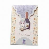 Buy cheap Greeting Card with Four Colors Offset Printing, Customized Sizes and Designs are Accepted from wholesalers