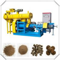 Buy cheap Blue/yellow Fish Feed Extruder Machine with 0.18t/h-5t/h production from wholesalers