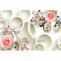 Buy cheap Embossed Surface 3D Wall Decor Panels Pink Roses For Hotel TV Background Wall from wholesalers