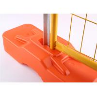 Buy cheap RAL 2009 Powder Coated Temporary Fencing Panels OD 32mm x 1.4mm Mesh 6cmx15cm diameter 3.2mm from wholesalers