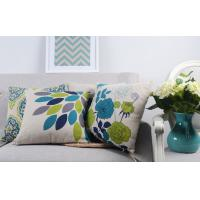 Buy cheap Heavy Weight Linen Digital Printed Leaves Home Decor Pillows For Sofa from Wholesalers