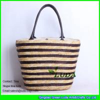 Buy cheap LUDA hot sale straw beach totes striped fashion wheat straw handbag from wholesalers