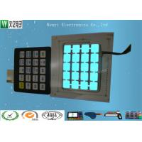 Buy cheap EL illuminate Panel  Green and blue Backlight light Flat Membrane Switch F150 Overlay from wholesalers