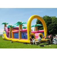 Buy cheap Commercial Grade Inflatable Obstacle Race Course Bounce House With Repair Kit from wholesalers