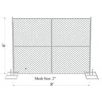 "Buy cheap 6' x 8' ""Charming Baby"" temporary chain link fence panels,available all brace from wholesalers"