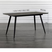 Buy cheap Black Color Smooth Foot European Style Kitchen Dining Table Leisure Coffee Table from wholesalers