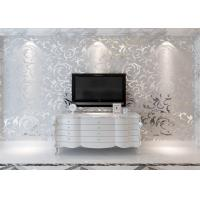 Buy cheap 3D Design Silver Grey European Modern Wallpaper for Bedrooms TV Background from wholesalers