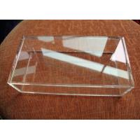 Buy cheap Customized Crystal Acrylic Storage Boxes Clear Perspex For Displaying Jewelry product