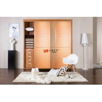 Buy cheap Contemporary Kitchen / Wardrobe Sliding Louvered Closet Doors Opening Smoothly from wholesalers