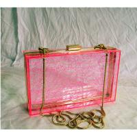 Buy cheap Red Retangle Woman Acrylic Box Clutch Bag for Wedding Party from wholesalers