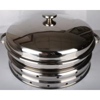 Buy cheap Hydraulic Round Stainless Steel Cookware / Rotating Roll Top Chafing Dish from wholesalers
