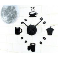 Buy cheap Fashion DIY Oversized Wall Sticker Clock , Large Contemporary Wall Clocks Black from wholesalers