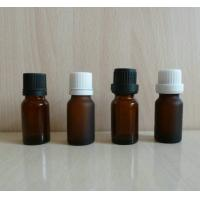 Buy cheap 10ml  amber green frosting essential oil glass bottles, dark glass vial with plastic cap from wholesalers
