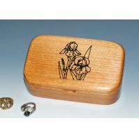 Buy cheap Natural Wood Solid Timber Jewellery Box , Handmade Wooden Earring Jewelry Box from wholesalers