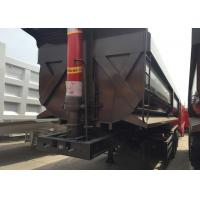 Buy cheap Black Color Hydraulic 3 Axles Semi Truck Flatbed Trailer Transport Cargo from wholesalers