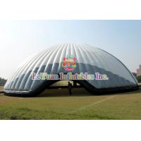 Buy cheap Flame Retardant 20M Inflatable Air Tent / White Constantly Inflatable Dome Stadium from wholesalers