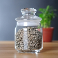 Buy cheap 500ml Glass Container With Lid , Glass Food Storage Jars Silicone Ring Sealed from wholesalers