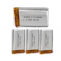 Buy cheap 3.7V 900mah Rechargeable Lithium Polymer Battery 603048 , 6.0mm Thickness from wholesalers