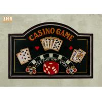 Buy cheap Mdf Wall Decor Casino Game Wall Decor Antique Wooden Wall Art Signs Pub Sign from wholesalers