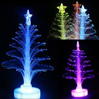 Buy cheap Colorful LED Fiber Optic Nightlight Christmas Tree Light from wholesalers