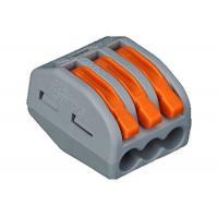 Buy cheap 2 Poles Fiber Optic Fast Connector for Soft and Hard wire 3PIN  Wago connector product