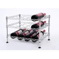 Buy cheap Mini Wine Rack Metal Display Shelf Carbon Steel Material Size: 45*30*32CM product