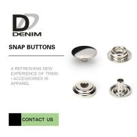 Buy cheap Overcoat Flat Silver Snap Buttons | Snap Closure Buttons 4 Parts Design Metal Cap Snap Fasteners from wholesalers