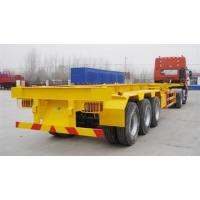 China 40 T Flat Bed Semi Trailer Truck 40 Feet Skeleton Container transport Tractor Trailer on sale