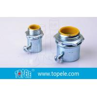 Steel Die Cast Zinc Plated EMT Conduit And Fittings / Insulated Connector