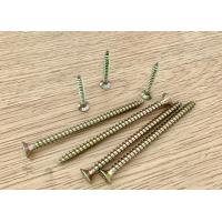 Buy cheap Double Countersunk Head Pozi Drive Full Thread Multi Purpose Screws Yellow Zinc Plated from wholesalers