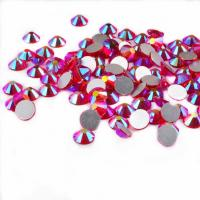 Buy cheap 14 Facets Flat Back Rhinestone Beads Non Hot Fix Glass Material Round Shape from wholesalers