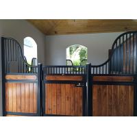 China Colored Painted Horse Barn Stalls 12 Guage Steel Formed U Channel Divider Walls on sale