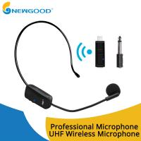 China UHF Wireless Stereo Receiver Usb Microphone MIC Unidirectional Condenser Microphone Headband Sound Digital Rechargeable on sale