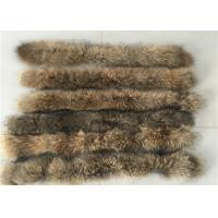 Buy cheap Raccoon Cream Fur Collar For Garment  Accessories , Long Hair Vintage Fur Collar  from wholesalers