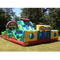 Buy cheap Yellow and blue basic training commercial bounce inflatable obstacle course slide from wholesalers