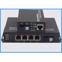 Buy cheap 4 Ports POE Fiber Optic Media Converter , Ethernet To Optical Media Converter from wholesalers