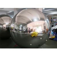 Buy cheap PVC Silver Color Inflatable mirror ball With D Rings from wholesalers