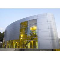 Buy cheap Silver Gold Non Combustible Aluminum Curtain Wall Extrusions Facade Cladding from wholesalers