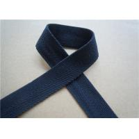 Buy cheap Blue Printed Elastic Webbing Straps Single Fold 2 Cm Width For Bags from wholesalers