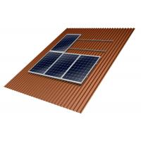 Buy cheap Home Solar Panel Roof Mounting Systems 10-60° Tilt Angle Anodized Anti - Corrosive from wholesalers