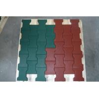 Buy cheap Non Toxic Playground Ground Cover Rubber Mat Flexible Noise Reduction from wholesalers