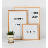 Buy cheap Handcrafet slotted felt letter board wook frame board with letters from wholesalers
