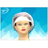 Buy cheap Customized Size  White Snood Disposable Surgical Caps / Hairnet from wholesalers