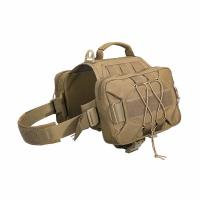 Buy cheap 2 Capacious Side Pockets Custom Dog Harness Saddle Bag Backpack For Travel Camping Hiking from wholesalers