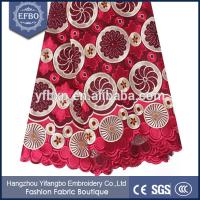 Buy cheap Nigeran style wine big heavy african swiss voile lace in switzerland 2015 from wholesalers